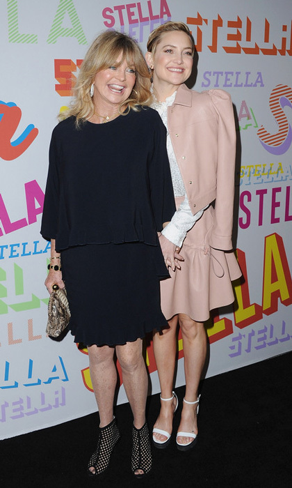 Kate Hudson and Goldie Hawn stepped out with their matching smiles and charm to the Stella McCartney Autumn Collection preview in L.A.
