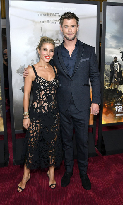 "Chris Hemsworth and Elsa Pataky stepped out into the freezing NYC temperatures for the <i>12 Strong</i> premiere. Elsa, who usually has a rule with her husband to not film a movie at the same time, explained to our sister company HOLA! USA that it was worth breaking for this film. ""We did break our rule,"" she said on Tuesday, January 16. ""But it was actually not a long time away, so I thought it was a good experience for both of us to have – doing what we love and what we are passionate about. I loved it.""