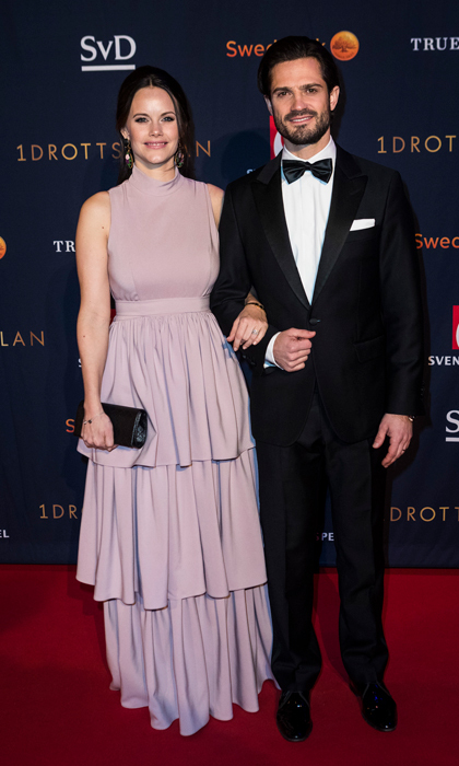 Prince Carl Philip and Princess Sofia of Sweden took a night off from parenting their sons — Princes Alexander and Gabriel — to attend the annual Swedish Sports Awards Gala held at the Ericsson Globe Arena on January 15 in Stockholm. The pair's brother-in-law Prince Daniel was forced to cancel his appearance at the event because of a severe cold.