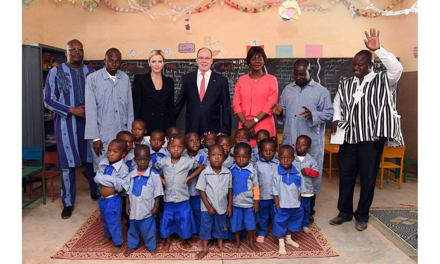 Princess Charlene of Monaco returned to her native Africa accompanied by her husband Prince Albert. The royal couple paid a visit to Burkina Faso in West Africa on January 11 and 12. During their time abroad, the pair visited the Center of Awakening and Preschool Education of Saaba where they posed for a group photo with children.