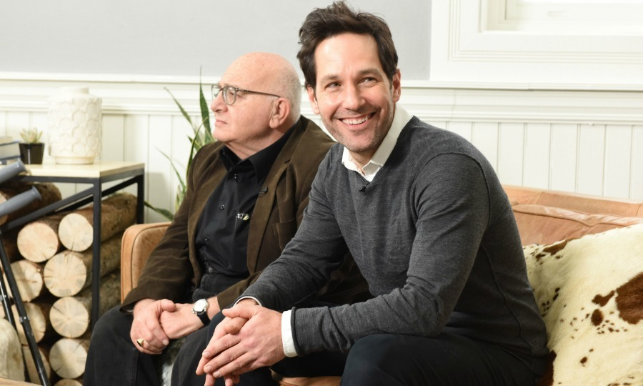 Paul Rudd was all smiles as he talked with his co-star Ben Lewis about their film <i>The Catcher Was A Spy</i>. 