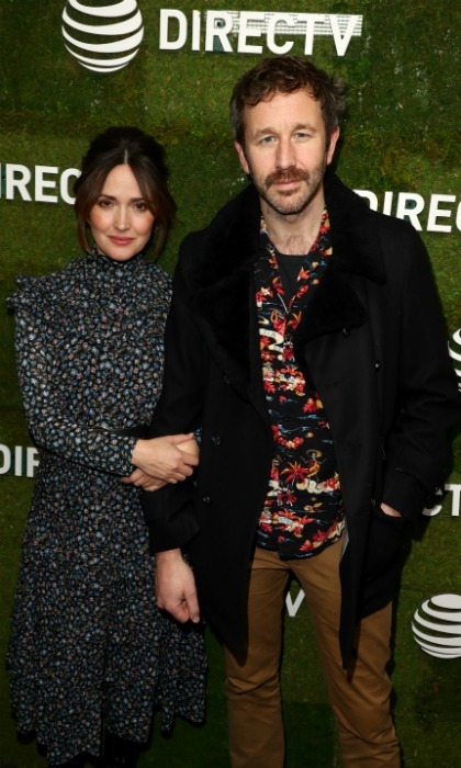 <i>Bridesmaids</i> reunion! Rose Byrne and Chris O'Dowd also popped on over to the DIRECTV Lodge to discuss their new film. The pair star together in a new drama called <i>Juliet, Naked</i>.