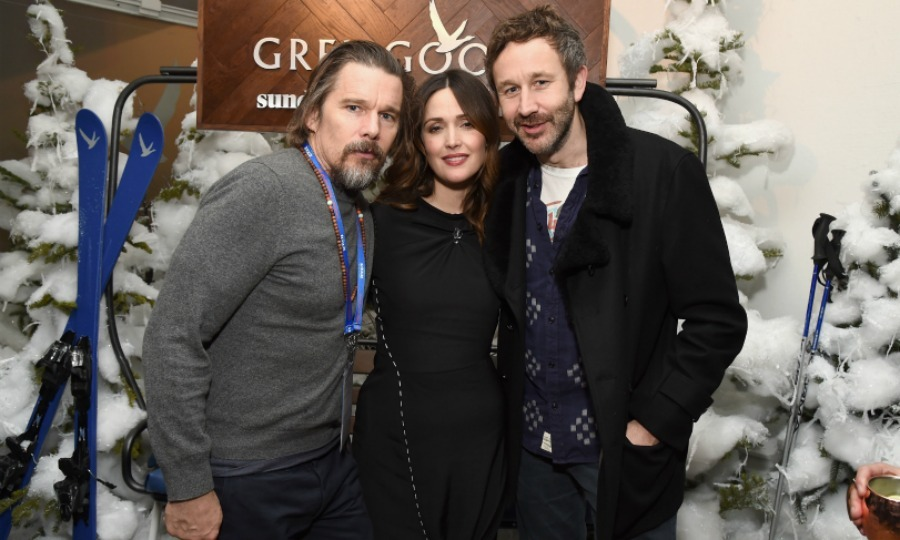 Ethan Hawke joined the duo at night for the <i>Juliet, Naked<</i> after-party. Grey Goose sponsored a snowy evening for the cast and creative team of the upcoming film.
