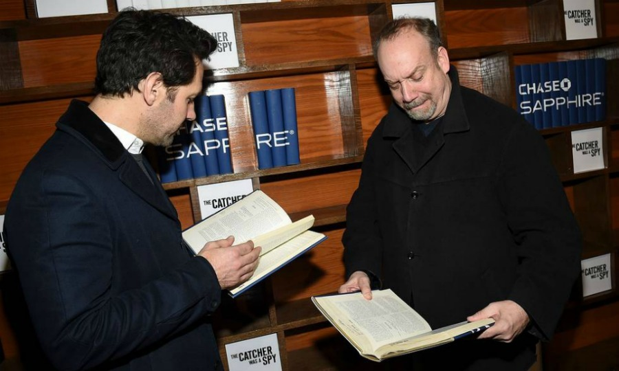 Paul and Paul! Paul Rudd and Paul Giamatti caught up on their reading at <i>The Catcher Was a Spy</i> cast party at Chase Sapphire on Main on January 19 in Park City. 