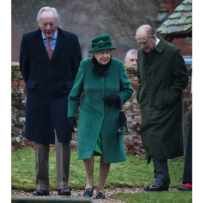 Also of course in attendance were Queen Elizabeth and the Duke of Edinburgh, right, who were no doubt excited about the thrilling news that their granddaughter will be tying the knot this year.