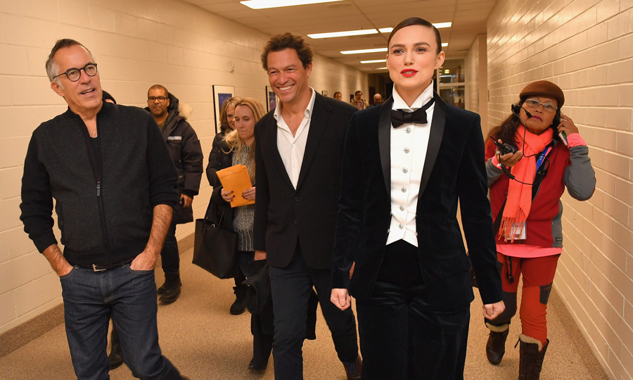 Keira Knightley and Dominic West made their way through the halls to get to their premiere of <i>Colette</i> at Sundance. The actress opted for a more formal tuxedo for the screening.