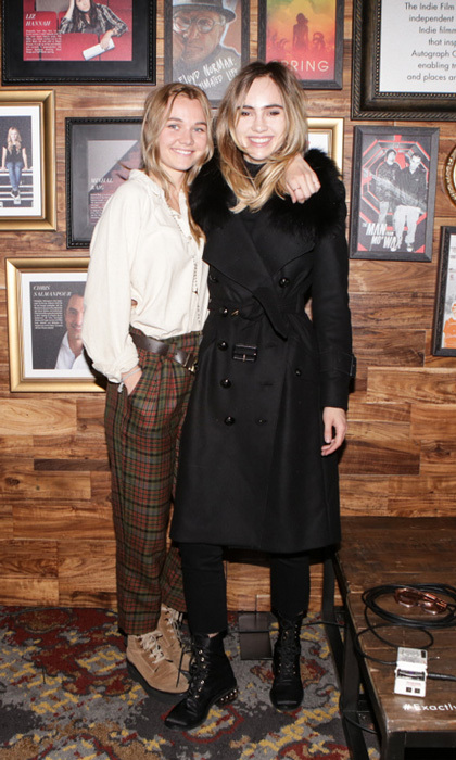 "Jake and Maggie weren't the only siblings to hang in Park City. Immy and Suki Waterhouse took in a performance by Martha Wainwright at the Autograph Collection Hotels & the Black List party. Suki was overheard talking about seeing Jane Fonda's documentary saying it was ""Unbelievable!"" The older sister also added: ""I sobbed. I snotted all over my Burberry coat!""