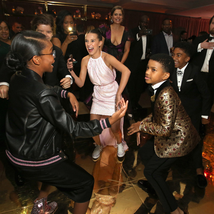 Marsai Martin, Millie Bobby Brown, Lonnie Chavis and Miles Brown had quite the dance party at the Netflix SAG after-party at the Sunset Tower hotel.