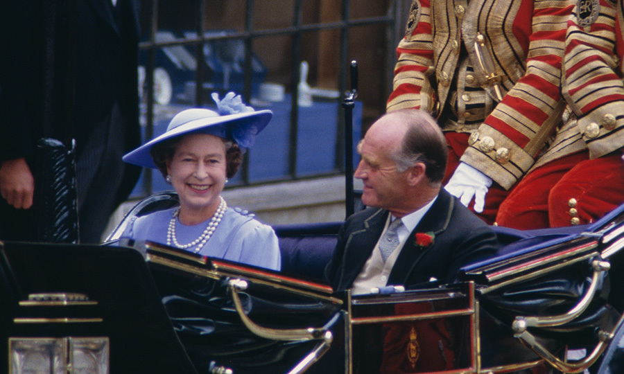 "Mother-of-the-groom <a href=""https://us.hellomagazine.com/tags/1/queen-elizabeth/""><strong>Queen Elizabeth Il</strong></a> looked delighted about the special day as she rode in a carriage along with father-of-the-bride Major Ronald Ferguson.