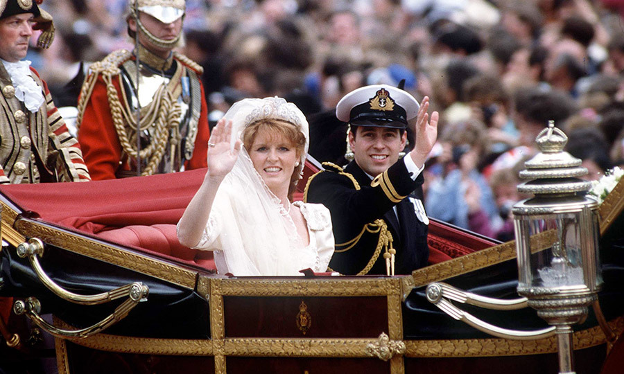 The newlyweds left Westminster Abbey for Buckingham Palace in an open-top 1902 State Landau. 