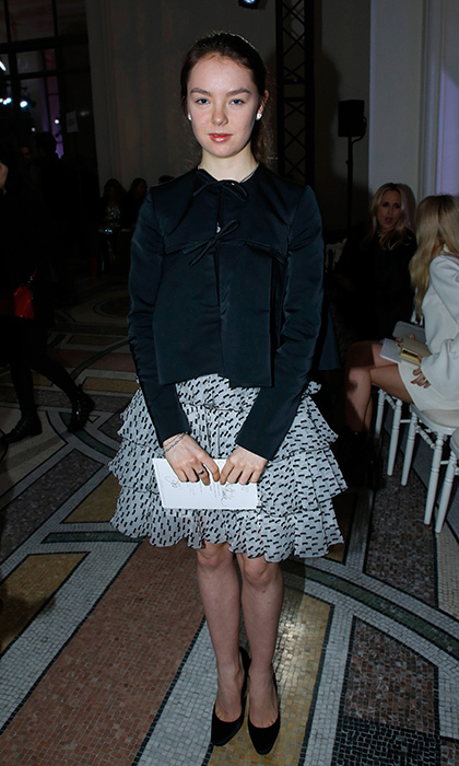 Princess Caroline's daughter Princess Alexandra of Hanover wore a frilly skirt and ladylike black jacket as she checked out the Giambattista Valli Haute Couture Spring Summer 2018 show at Paris Fashion Week on January 22.