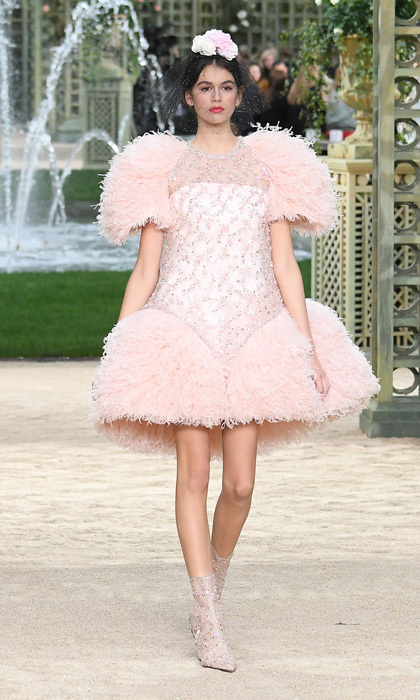 Kaia Gerber has been making quite the name for herself in the fashion world and on January 23, she had another runway milestone. Cindy Crawford and Rande Gerber's 16-year-old daughter walked her first Haute Couture show for Chanel at the Grand Palais.   