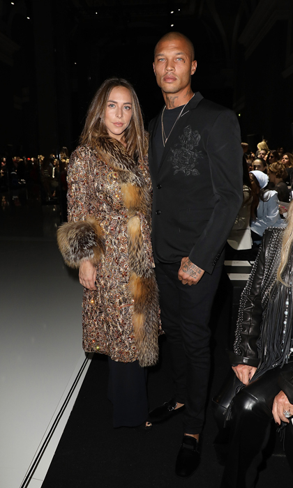 Chloe Green and Jeremy Meeks attended the Ralph & Russo Haute Couture runway presentation on January 22.