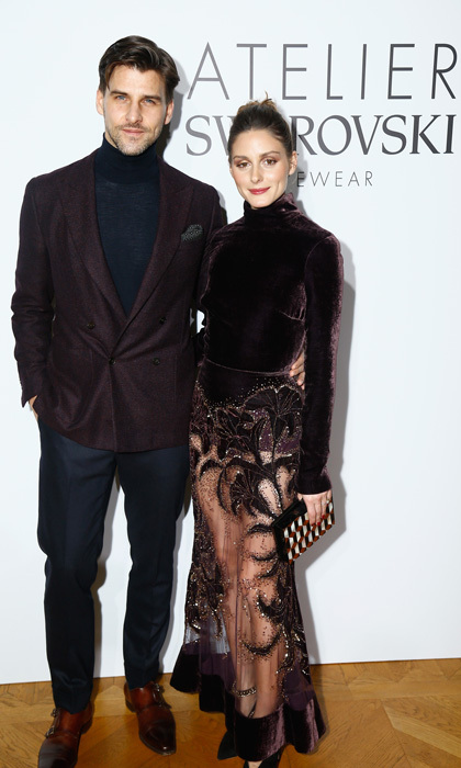 Olivia Palermo and husband Johannes Huebl had a fancy date night at the the Swarovski Eyewear dinner at Hotel Crillon.