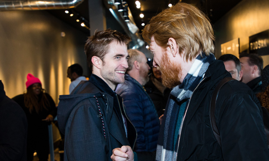 Robert Pattinson ran into Domhnall Gleeson at New York Magazine's Vulture Spot in Park City.
