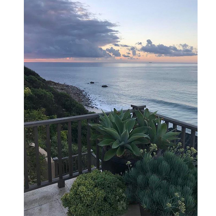 "It's hard to imagine anything more soothing than this ocean view from <a href=""https://us.hellomagazine.com/tags/1/cindy-crawford/""><strong>Cindy Crawford</strong></a>'s home. The supermodel posted the photo to her Instagram page, giving us a glimpse of her beachside house's terrace garden and amazing surroundings. 