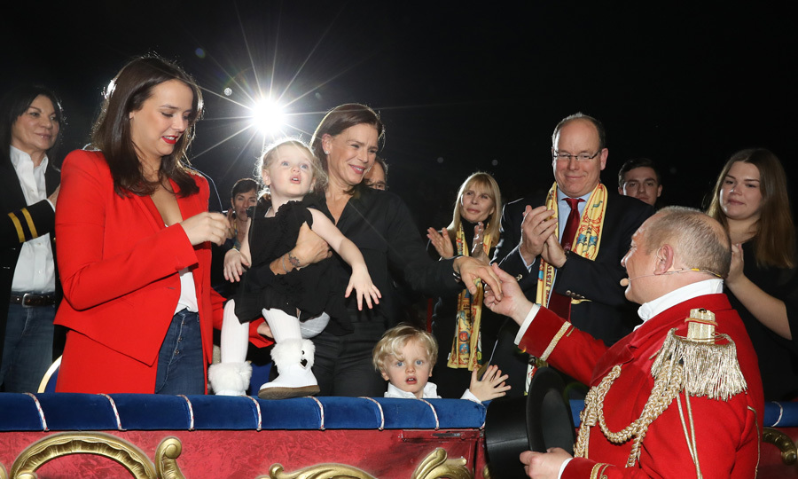 Princess Charlene's three-year-olds made their first appearance at the 42nd Monte Carlo International Circus Festival with their dad and paternal aunt Princess Stephanie. During the event, Gabriella and Jacques enjoyed some of the traditional circus acts including clowns, trapeze artists and various animals. 