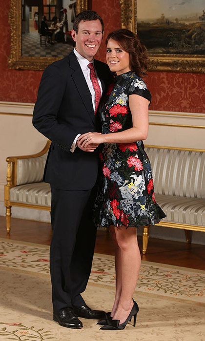 Princess Eugenie and her long-term boyfriend Jack Brooksbank announced their engagement on January 22. The Princess was pretty in a floral dress by Erdem in the official portraits.
