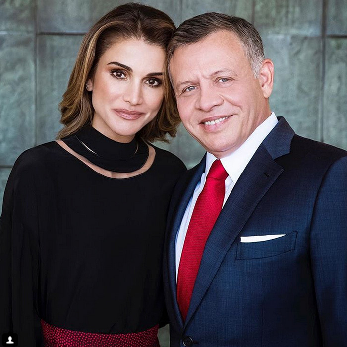 "King Abdullah, of course, wasn't left out of the special birthday messages! Queen Rania posted this lovely portrait on Instagram as well, writing: ""To the most loving husband and father, happy birthday from all of us.""