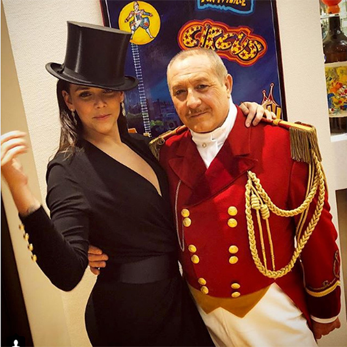 "Princess Grace's granddaughter Pauline Ducruet looked sharp as she borrowed the ringmaster's top hat while promoting the Monaco circus on her Instagram page. She added a fashion note: ""LOVE this @alexandrevauthier dress and @davidyurman earrings !! Amazingly styled by my personal amazing stylist/friend @schanelb ❤️❤️""