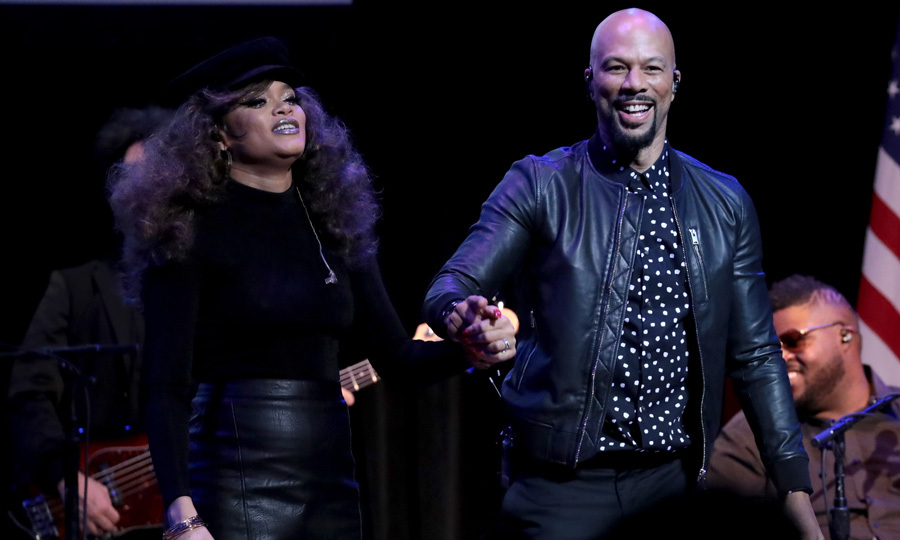 Andra Day and Common performed during The People's State of the Union at Town Hall in NYC on January 29, which was an evening championing progressive causes.