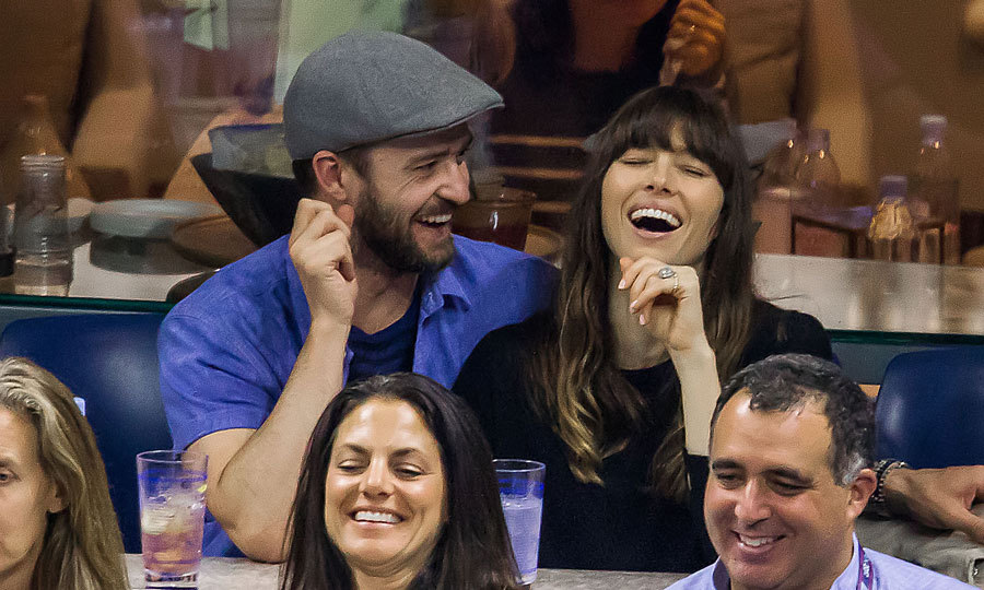 Date night at the Open. Justin and Jessica made each other laugh and shared kisses while watching the US Open in Queens, New York in September 2017.