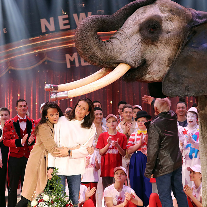"Happy birthday, mom! Monaco royal     <a href=""https://us.hellomagazine.com/tags/1/pauline-ducruet/ ""><strong>Pauline Ducruet</strong></a> had a special audience – including an elephant! – as she gave her mom Princess Stephanie a hug and a bouquet for her 53rd birthday. The mother-daughter team was kicking off the 7th Monte-Carlo International Circus Festival 'New Generation' in Monaco.