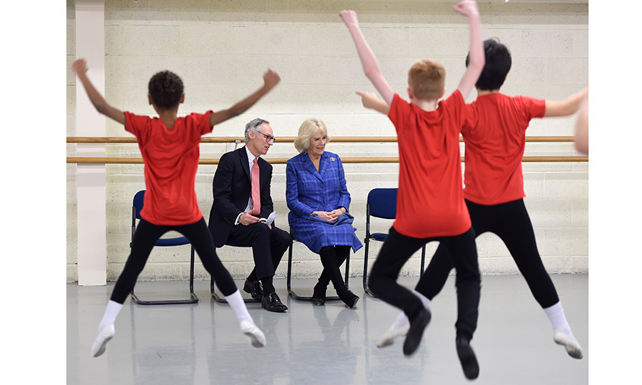Camilla, Duchess of Cornwall watched young dancers perform while she also learned about the Silver Swans program, an initiative which delivers ballet classes specially designed for over 55s, at The Royal Academy of Dance in central London on February 1.