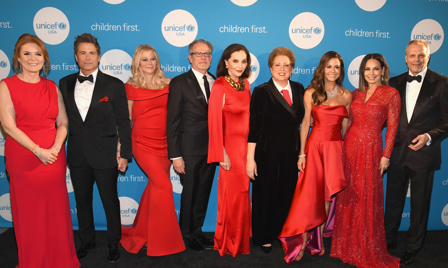 Ladies in red! Sarah Ferguson traveled to Dallas to kick off the inaugural UNICEF Gala Dallas at The Ritz-Carlton. The British royal was joined by Rob Lowe and his wife Sheryl as well as Brooke Burke-Carvet, who emceed the evening that raised $1.3 million for the organization. 