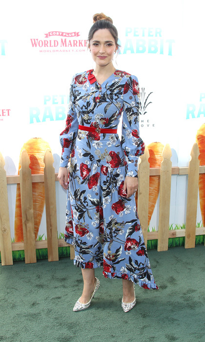 Rose Byrne was spring ready in her floral dress during the <i>Peter Rabbit</i> premiere at the Grove in West Hollywood.