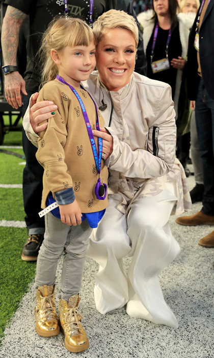 Pink had her biggest cheerleader, daughter Willow, on the field with her as she sang the national anthem ahead of the Super Bowl. Despite battling the flu, the singer gave a moving rendition of the song and received major accolades from fans including Ellen DeGeneres on social media.