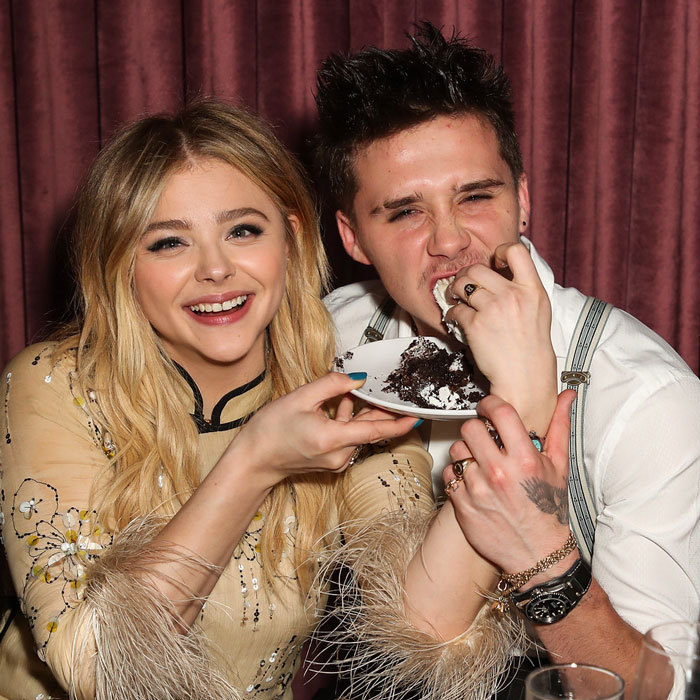 Chloe Grace Moretz had her cake and let boyfriend Brooklyn Beckham eat it too. The actress celebrated her 21st birthday in style at Beauty & Essex Los Angeles with a 4-tiered cake, florals by Earthbaby Flowers and balloons that spelled her name. The couple was joined by friends Joe Keery and his girlfriend, Zoey Deutsch and more.