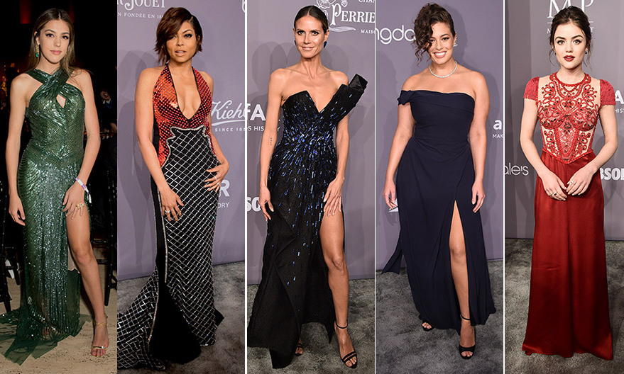 "The unofficial kick-off of <a href=""https://us.hellomagazine.com/tags/1/fashion-week/ ""><strong>New York Fashion Week</strong></a>, the amfAR gala, a black-tie fundraiser which also honors individuals who have contributed in the fight against HIV/AIDS, is one of the most glamorous parties of NYFW, with prices ranging from $1,750 for an individual ticket to a whopping $25,000 for a table of 12. This year's event, held on Wednesday, February 7, featured an A-list roster of guests, including event co-chair <a href=""https://us.hellomagazine.com/tags/1/heidi-klum/ ""><strong>Heidi Klum</strong></a> and host <a href=""https://us.hellomagazine.com/tags/1/taraji-p-henson/ ""><strong>Taraji P Henson</strong></a>, who enjoyed cocktails, dinner, a live auction and a performance by Halsey on a night that recognized <I>Precious</I> and <I>The Butler</I> director Lee Daniels and W Magazine editor Stefano Tonchi as the year's outstanding individuals. Scroll through to see all the best red carpet fashion from the gala, held at NYC's famed Cipriani Wall Street.