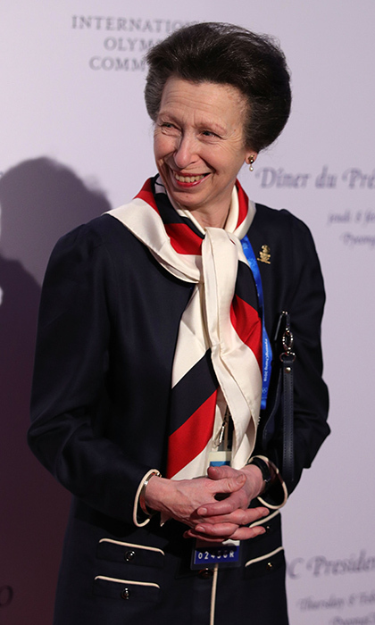 Queen Elizabeth's only daughter Princess Anne, a former Olympian herself, was all smiles at the IOC President's Dinner ahead of the PyeongChang 2018 Winter Olympic Games on February 8 in South Korea.