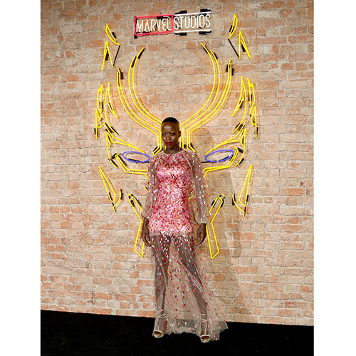 "<I>Black Panther</I>'s Florence Kasumba looked like a true goddess at the European Premiere of the superhero film at Eventim Apollo on February 8 in London. The actress wore a pink sheer and sparkly gown by Kate Middleton favorite <a href=""https://us.hellomagazine.com/tags/1/prince-william/""><strong>Jenny Packham</strong></a>.