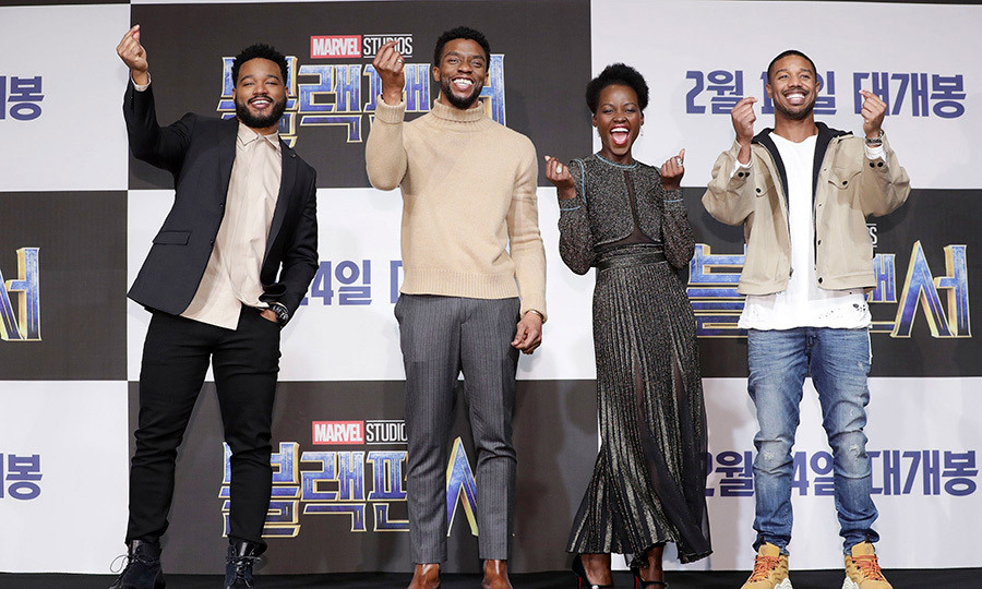 Welcome to South Korea! Crowds went wild for film director Ryan Coogler and actors Chadwick Boseman, Lupita Nyong'o and Michael B Jordan as they brought <I>Black Panther</I> to Seoul.