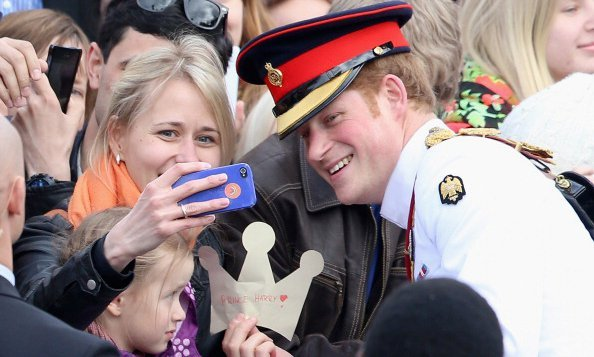 When Harry met this selfie fan... The British Prince stopped for a photo during a two-day trip to Estonia.