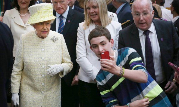 Talk about the Queen of All Selfies! One lucky royal fan managed to snap a photo with Queen Elizabeth II in Belfast, Northern Ireland.