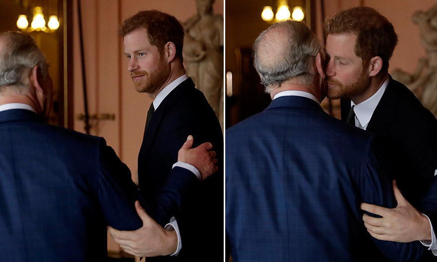 It is not often we see public displays of affection from the British royals – especially between Prince Charles and his sons Prince William and Prince Harry. But on Valentine's Day, the love was clear to see as Harry gave his dad a kiss at the 'International Year of The Reef' 2018 meeting in London.