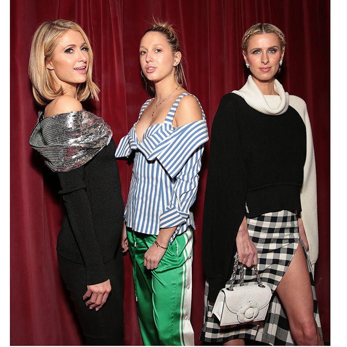 On Galentine's Day, February 13, Princess Olympia of Greece joined stylish siblings Paris and Nicky Hilton at the Monse launch party in NYC.