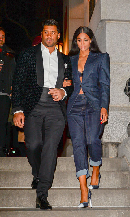 Ciara and Russell Wilson, who looked fresh off the runway outside of the Tom Ford presentation, took to the streets of NYC to show off their coupled-up fashion week street style.