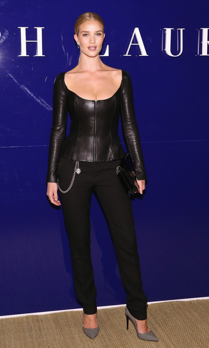 Rosie Huntington-Whiteley was picture perfect at the Ralph Lauren fashion show.