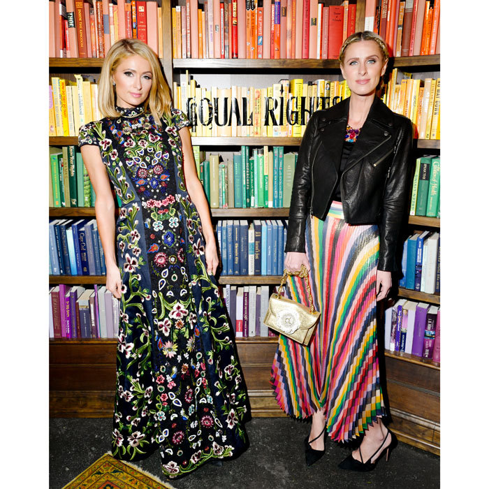 Stylish sisters! Paris Hilton and Nicky Hilton Rothschild showed off their personal style at the Alice & Olivia presentation.