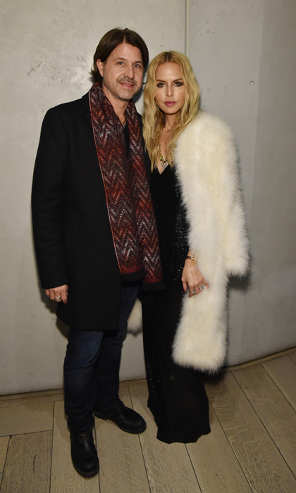 Stylish couple Rachel Zoe and Rodger Berman had a fashionable date night at IMG's NYFW celebration hosted by Amazon Echo.
