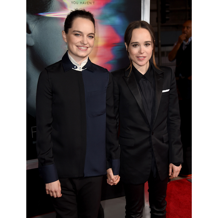 <b>Ellen Page and Emma Portner</b>