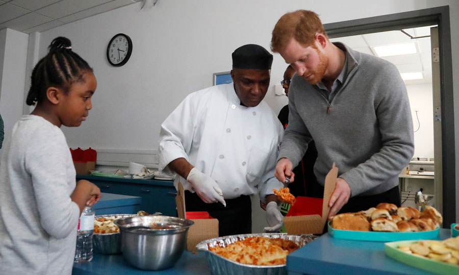 Prince Harry served up some pasta to students at the Fit and Fed February school holiday activity program held at the Roundwood Youth Centre on February 15. The program provides children and young people with free access to activity sessions and a nutritious lunch during school holidays, with community sport and wellbeing charity.