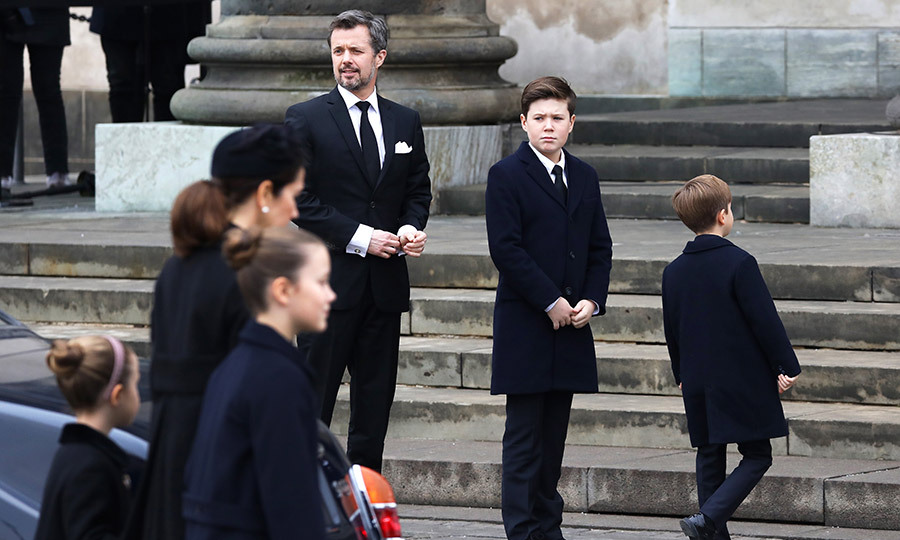 Prince Frederik had arrived with Crown Princess Mary and their four children: Prince Christian, Princess Isabella and twins Prince Vincent and Princess Josephine.