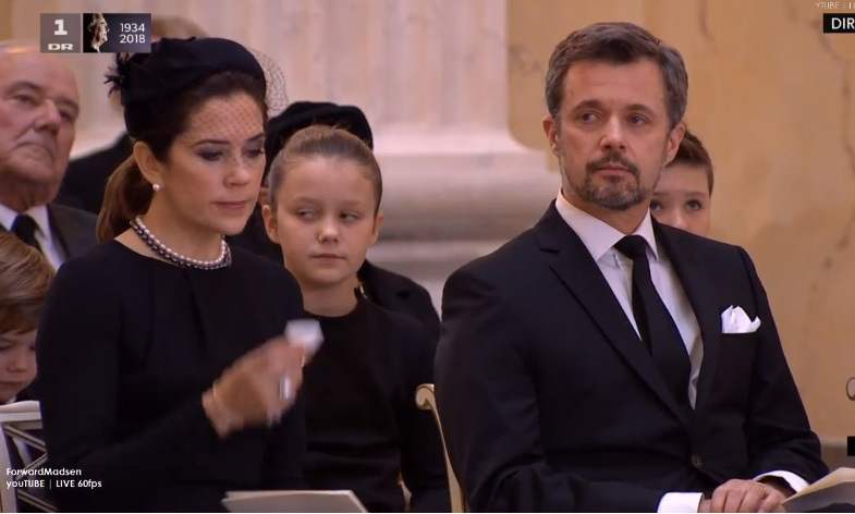 Frederik, Prince Henrik's elder son and Queen Margrethe's heir, looked emotional during his father's funeral, which was broadcast on live TV. The prince had flown back from his visit to South Korea for the Winter Olympics to be at his father's side before his death.