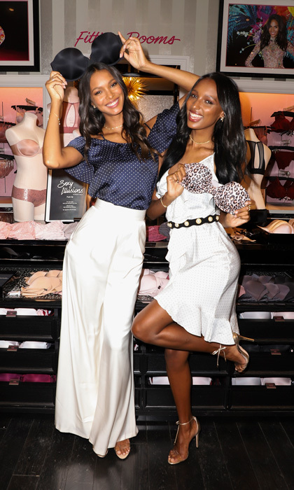 Girls just want to have fun! Victoria's Secret Angels Lais Ribeiro and Jasmine Tookes got silly in Miami while promoting the new Sexy Illusion Strapless Bra.
