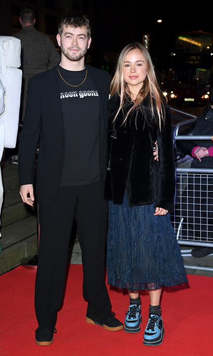 Lady Amelia Windsor and fellow British royal Cassius Taylor, son of Lady Helen Taylor, hit the red carpet for the Naked Heart Foundation's Fabulous Fund Fair during London Fashion Week.